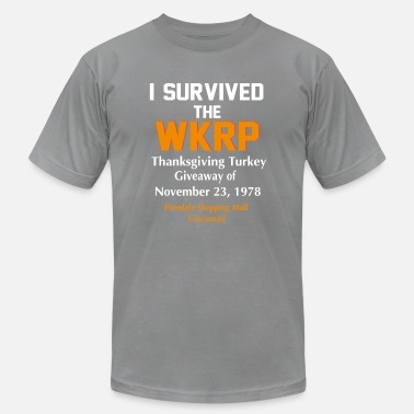Giveaway I Survived The WKRP Thanksgiving Turkey Giveaway - Men's  Jersey T-Shirt