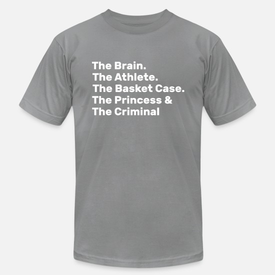 Humor T-Shirts - The Brain The Athlete The Basket Case The Princess - Men's Jersey T-Shirt slate
