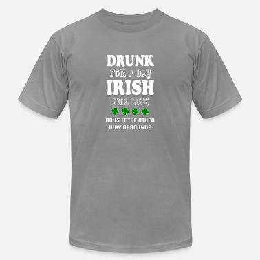 Drinking Beer St Patricks Day Funny Irish Shirt - Men's Jersey T-Shirt