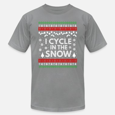 Cycle I Cycle In The Snow - Unisex Jersey T-Shirt