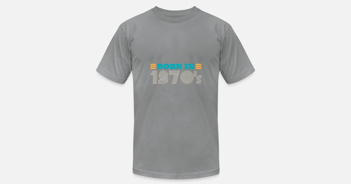 Born in 1970s Vintage 70's retro style disco fonts Men's Jersey T-Shirt    Spreadshirt