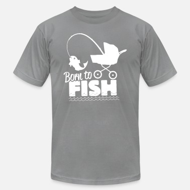 Fishing Couple Born to fish - Men's  Jersey T-Shirt