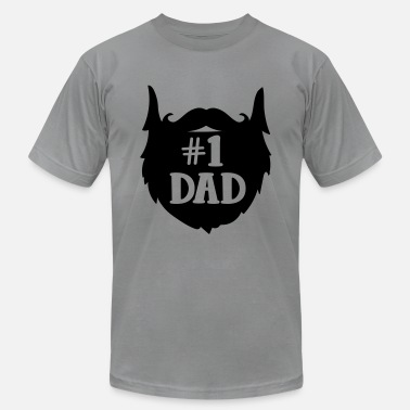 cd2a97be Bearded Dad Number 1 Dad Beard Design - Men's Jersey T-