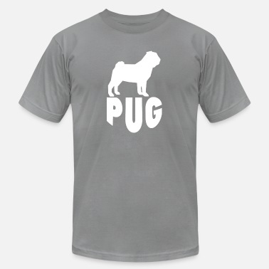 Pug Silhouette Pug Silhouette - Men's  Jersey T-Shirt