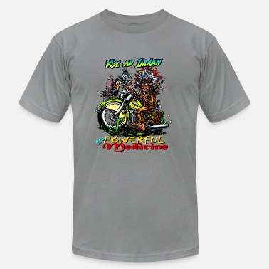Sketchy Ride an Indian, it's powerful medicine! - Men's  Jersey T-Shirt
