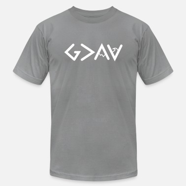 Greater God is Greater Than the Highs and lows Symbols - Unisex Jersey T-Shirt