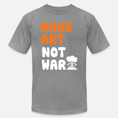 Artfetish Make Art Not War - Men's Jersey T-Shirt