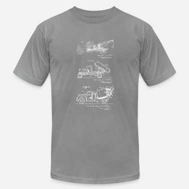 Original Art 3 Trucks Truck Driver Gift Vintage Patent Art - Men's Jersey T-Shirt