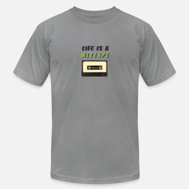 Tape Life is a Mixtape - Men's Jersey T-Shirt