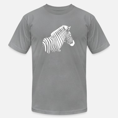 Zebra White Zebra Sujet white - Men's  Jersey T-Shirt