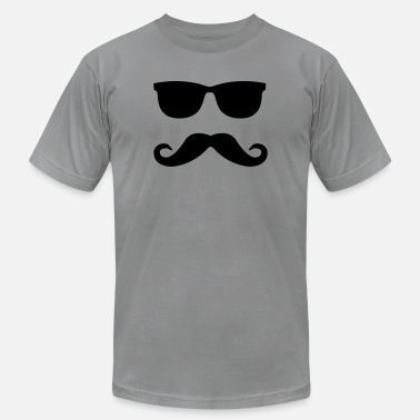 Mustache mustache and glasses - Unisex Jersey T-Shirt