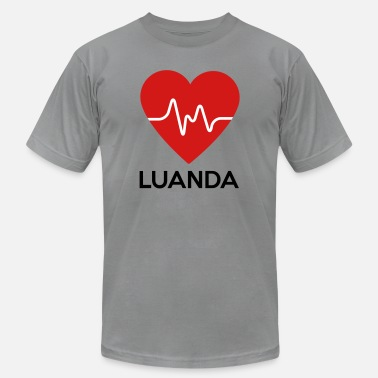 Luanda Heart Luanda - Men's  Jersey T-Shirt
