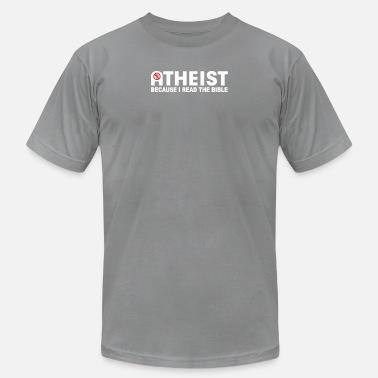 5c4d343d Bible Atheist ATHEIST BIBLE LIES GOD SINNER AGNOSTIC HUMANIST AT -  Men's. Men's Jersey T-Shirt