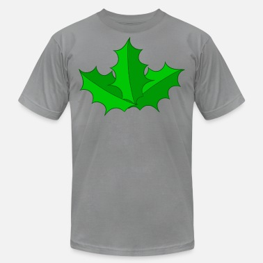 Christmas Holly Leaves Holly - christmas gift - Men's  Jersey T-Shirt