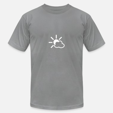 Weather Icons Weather Cloud Sun Icon - Men's  Jersey T-Shirt