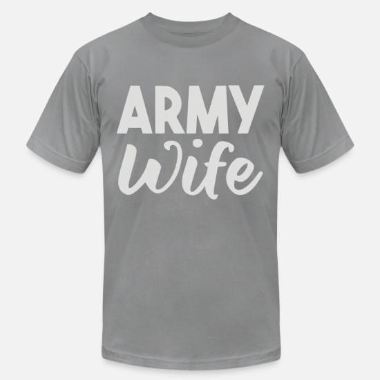 Army Wife T-Shirts - Army Wife - Men's Jersey T-Shirt slate