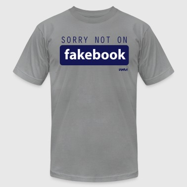 not on fakebook by wam - Men's Fine Jersey T-Shirt