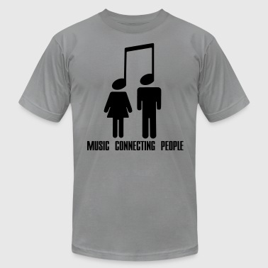 Music Connecting People - Men's Fine Jersey T-Shirt