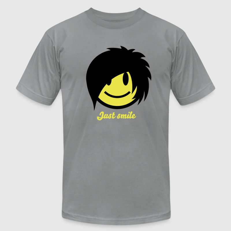 Smiley Emo (Boy) Icon 2c - Men's Fine Jersey T-Shirt