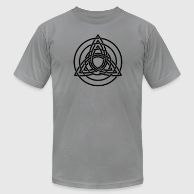 Triquetra, Germanic paganism, Celtic art, - Men's Fine Jersey T-Shirt