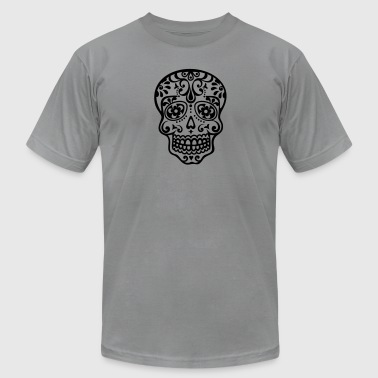 Mexican skull, floral pattern - Days of the Dead - Men's Fine Jersey T-Shirt