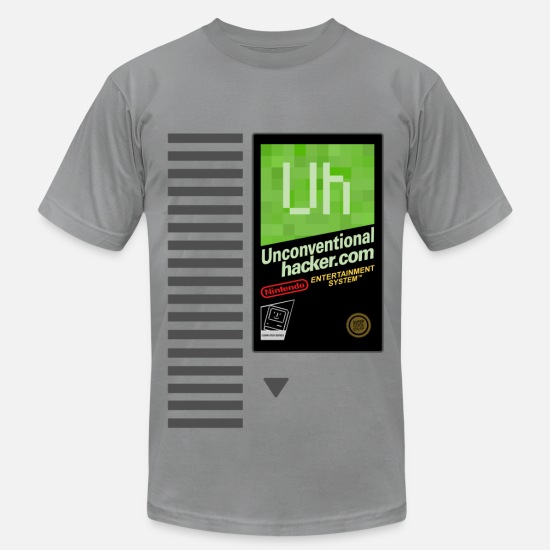 Hacker T-Shirts - NES Cartridge Shirt - Men's Jersey T-Shirt slate