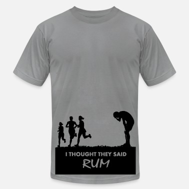 Funny Running Alcohol I thought they said rum - Men's Fine Jersey T-Shirt