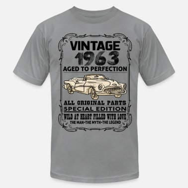 Vintage 1963 Aged To Perfection VINTAGE 1963-AGED TO PERFECTION - Men's Fine Jersey T-Shirt