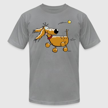 Funny Dog - Ball - Flyball  - Men's Fine Jersey T-Shirt