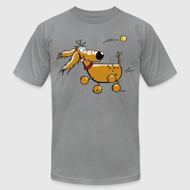 Dog Sports Funny Dog - Ball - Flyball  - Men's Fine Jersey T-Shirt