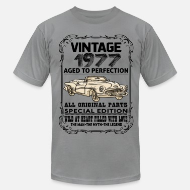 Vintage 1977 Aged To Perfection VINTAGE 1977-AGED TO PERFECTION - Men's  Jersey T-Shirt