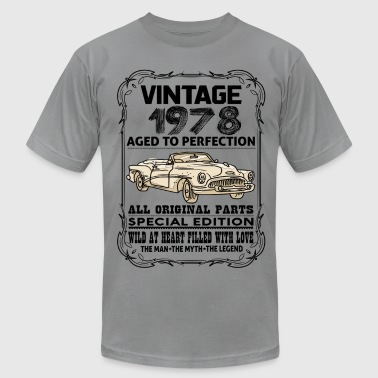 VINTAGE 1978-AGED TO PERFECTION - Men's Fine Jersey T-Shirt