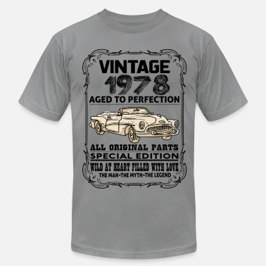 Aged To Perfection 1978 Birthday VINTAGE 1978-AGED TO PERFECTION - Men's  Jersey T-Shirt
