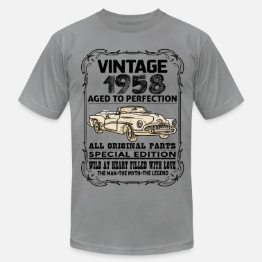 1958 Aged To VINTAGE 1958-AGED TO PERFECTION - Men's  Jersey T-Shirt