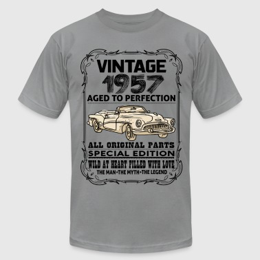 1957 Aged To VINTAGE 1957-AGED TO PERFECTION - Men's Fine Jersey T-Shirt