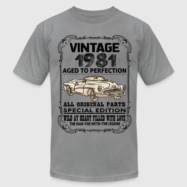 VINTAGE 1981-AGED TO PERFECTION - Men's Fine Jersey T-Shirt