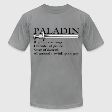 Paladin in Black - Men's Fine Jersey T-Shirt