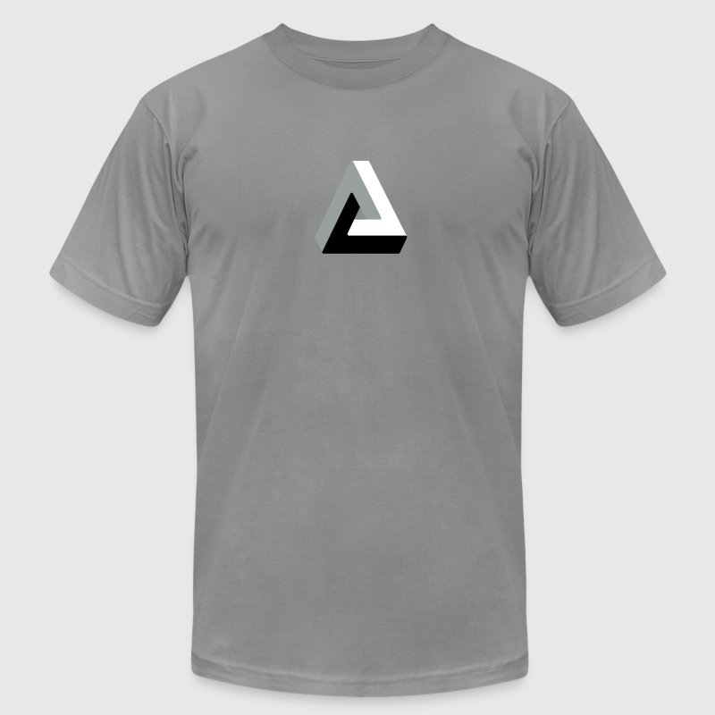 Optical illusion penrose triangle - Men's Fine Jersey T-Shirt