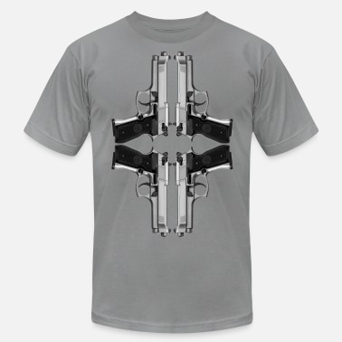 Handgun Love Quad handguns - Men's  Jersey T-Shirt