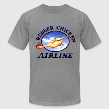 Rubber Chicken Airlines - Men's Fine Jersey T-Shirt