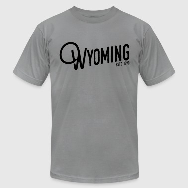 Wyoming Script - Men's Fine Jersey T-Shirt