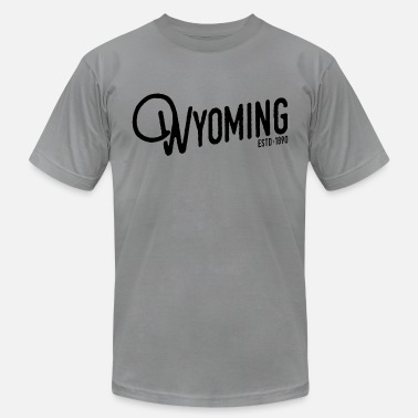 Wyoming Wyoming Script - Men's Fine Jersey T-Shirt
