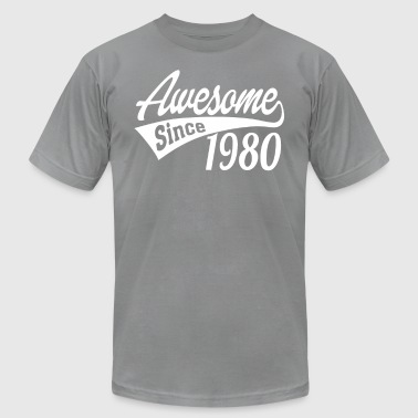 1980s Awesome Awesome Since 1980 - Men's Fine Jersey T-Shirt