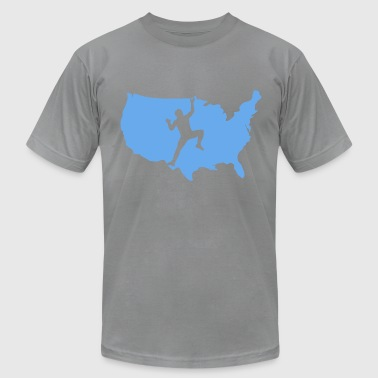 Climbing in the United States of America - Men's Fine Jersey T-Shirt