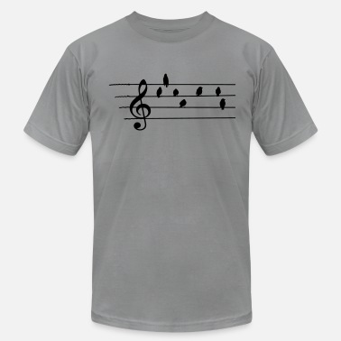 Clef Music - Treble Clef - birds as notes - Men's  Jersey T-Shirt