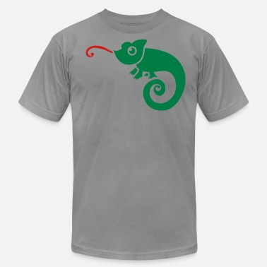 Lick Tongue CUTE little chameleon tongue licking  - Men's  Jersey T-Shirt