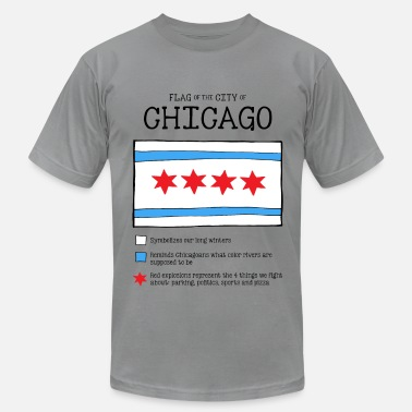 Chicago Flag Chicago Flag Really - Men's  Jersey T-Shirt