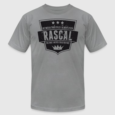 Vintage RASCAL quotes - Between two evils - Men's Fine Jersey T-Shirt