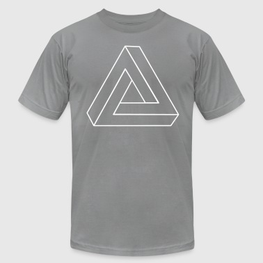 Impossible Triangle 3D - Men's Fine Jersey T-Shirt