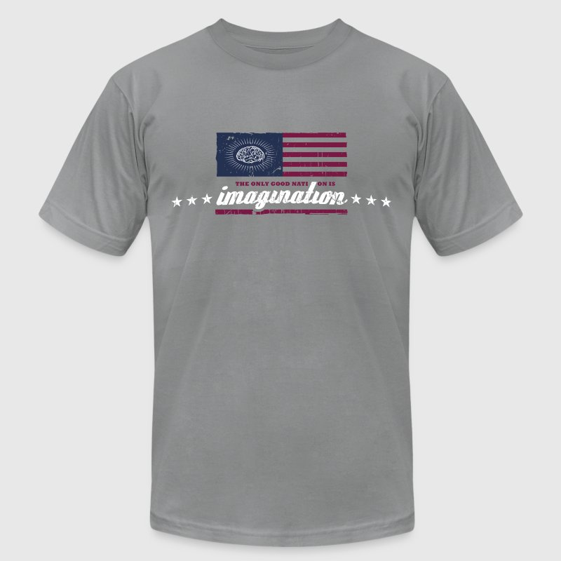 The only good nation is imagination - Men's Fine Jersey T-Shirt